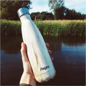 Stalowa butelka na wodę Ragsy, Milky Wood 500 ml