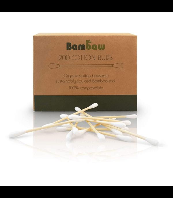 Patyczki do czyszczenia uszu bambusowe z bawelna organiczna 200 szt