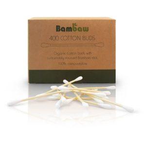 Patyczki do czyszczenia uszu bambusowe z bawelna organiczna 400 szt