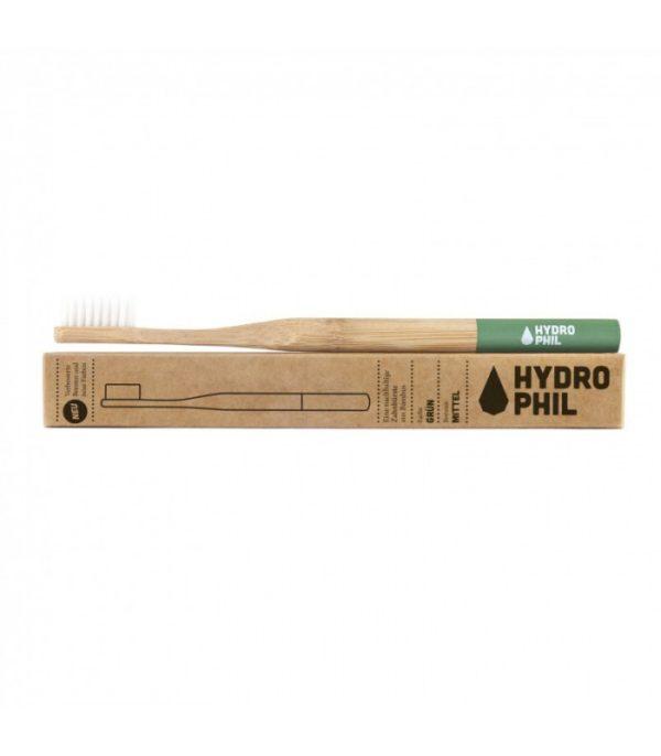 Szczoteczka do zębów z bambusa Hydrophil   Zielona