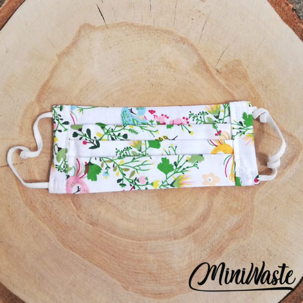Dwuwarstwowa maseczka ochronna Miniwaste| Łąka kwietna